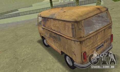 Volkswagen T2 Super Rust para GTA Vice City deixou vista