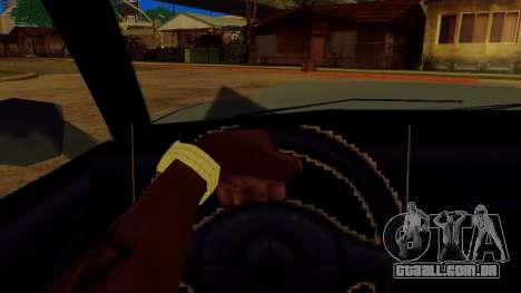 Girar a roda para carros padrão para GTA San Andreas por diante tela