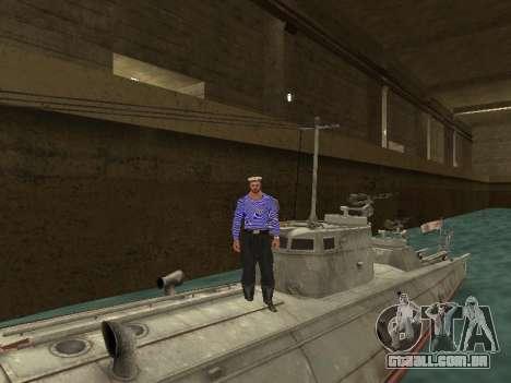 Torpedeiros do tipo G-5 para GTA San Andreas vista inferior