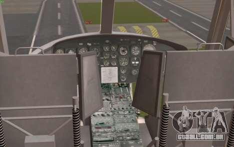 UH-1 Huey para GTA San Andreas vista traseira