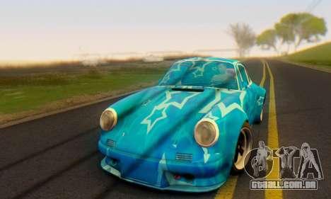 Porsche 911 Blue Star para GTA San Andreas esquerda vista