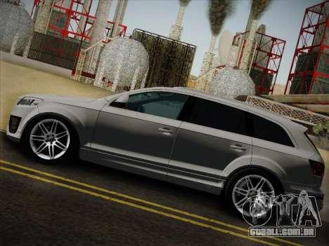 Audi Q7 para GTA San Andreas traseira esquerda vista