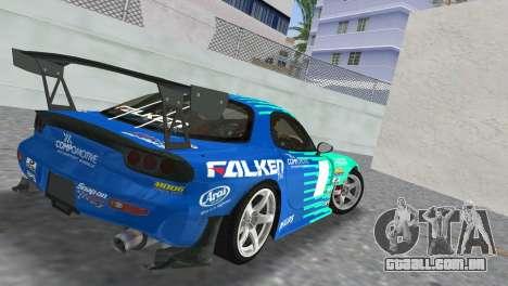 Mazda RX7 FD3S RE Amamiya Falken para GTA Vice City deixou vista