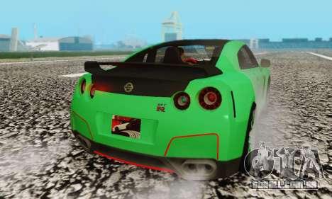 Nissan GTR Streets Edition para GTA San Andreas vista traseira