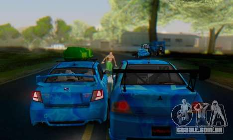 Subaru Impreza Blue Star para vista lateral GTA San Andreas