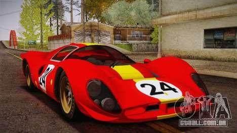 Ferrari 330 P4 1967 IVF para GTA San Andreas interior