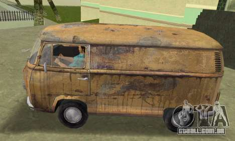 Volkswagen T2 Super Rust para GTA Vice City vista traseira esquerda