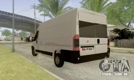 Fiat Ducato Ekip Otosu para GTA San Andreas esquerda vista