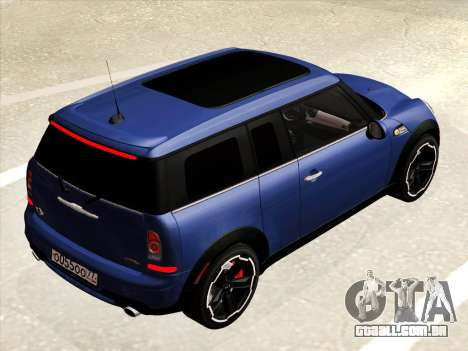 Mini Cooper Clubman JCW para GTA San Andreas vista interior