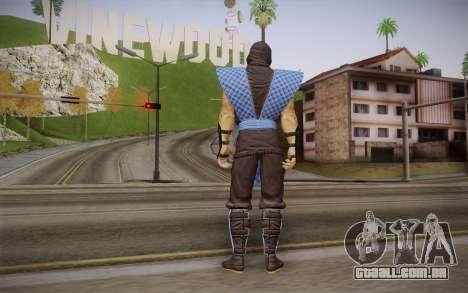 Classic Sub Zero из MK9 DLC para GTA San Andreas segunda tela