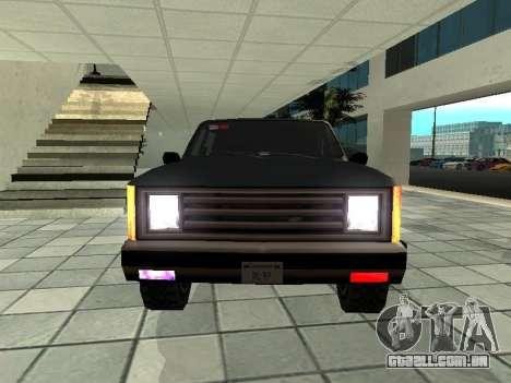SWAT Original Cruiser para GTA San Andreas vista traseira