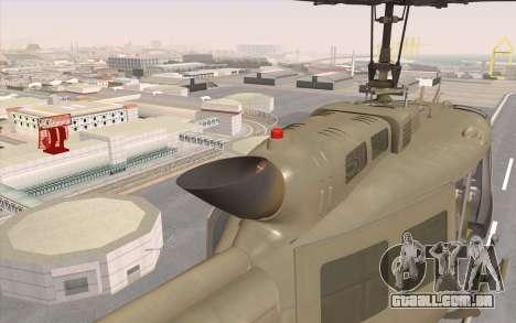 UH-1 Huey para GTA San Andreas vista direita