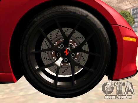 Ferrari 599 GTO para GTA San Andreas vista interior