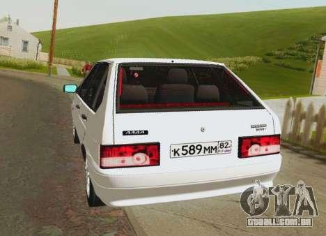 VAZ-21093 para GTA San Andreas traseira esquerda vista