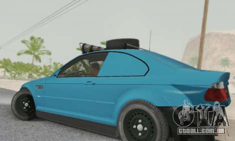 BMW M3 E46 Offroad Version para GTA San Andreas esquerda vista