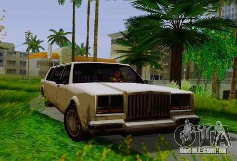 Greenwood Limousine para GTA San Andreas vista direita