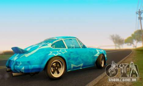 Porsche 911 Blue Star para GTA San Andreas vista direita