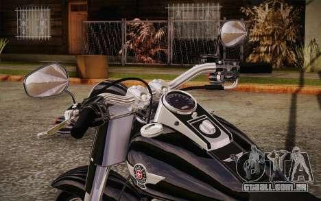 Harley-Davidson Fat Boy Lo 2010 para GTA San Andreas vista traseira