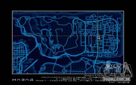 Mapa estilo de need For Speed World para GTA San Andreas quinto tela