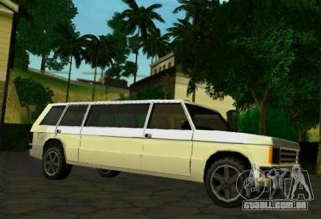 Huntley Limousine para GTA San Andreas vista direita