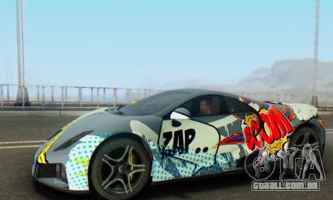 GTA Spano 2014 IVF para GTA San Andreas vista inferior