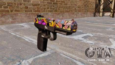 Arma FN Cinco sete Graffitti para GTA 4