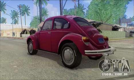 1973 Volkswagen Beetle para GTA San Andreas esquerda vista