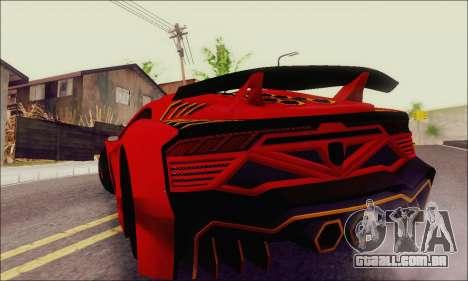 Zentorno GTA 5 V.1 para GTA San Andreas vista superior