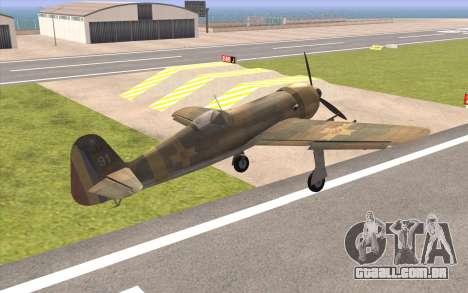 IAR 80 - Romania No 91 para GTA San Andreas esquerda vista