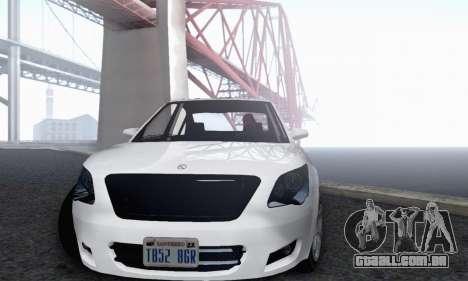 Karin Asterope V1.0 para GTA San Andreas vista interior