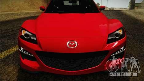 Mazda RX-8 Spirit R 2012 para GTA San Andreas vista direita