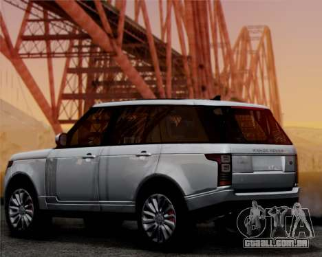 Range Rover Vogue 2014 para GTA San Andreas traseira esquerda vista