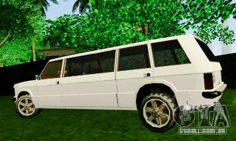 Huntley Limousine para GTA San Andreas esquerda vista