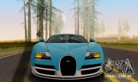 Bugatti Veyron Super Sport 2011 para GTA San Andreas esquerda vista