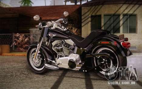 Harley-Davidson Fat Boy Lo 2010 para GTA San Andreas esquerda vista