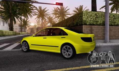 Karin Asterope V1.0 para GTA San Andreas traseira esquerda vista
