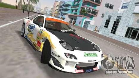 Mazda RX7 FD3S RE Amamiya Arial para GTA Vice City vista direita