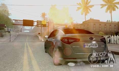 Kia Optima Stock para GTA San Andreas esquerda vista