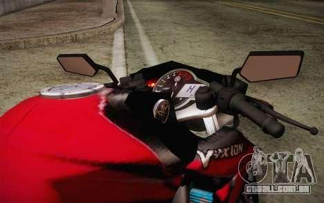 Yamaha V-Ixion 2014 para GTA San Andreas vista interior