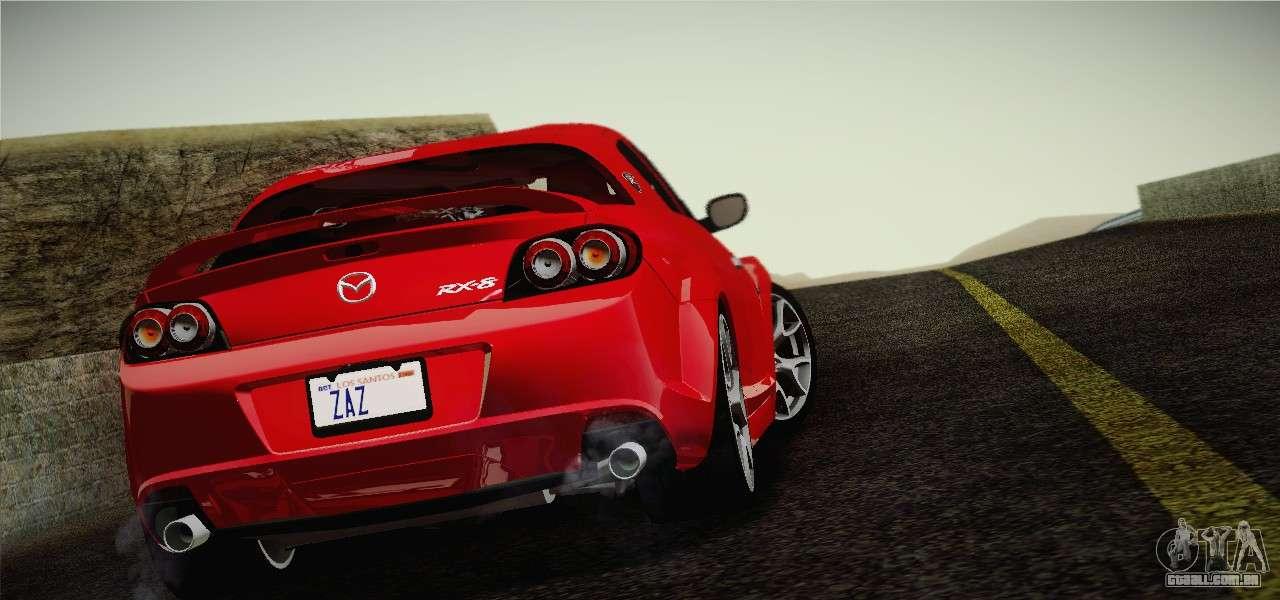 Mazda RX 8 Spirit R 2012 Para GTA San Andreas Esquerda Vista