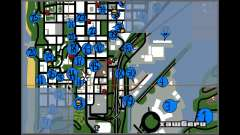 Hidden Photos Map para GTA San Andreas