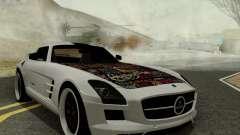Mercedes SLS AMG Hamann 2010 Metal Style para GTA San Andreas