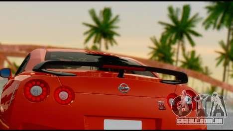 Nissan GT-R R35 para GTA San Andreas vista interior