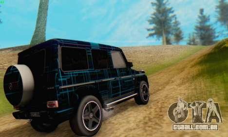 Mercedes-Benz G65 Black Square Pattern para GTA San Andreas traseira esquerda vista