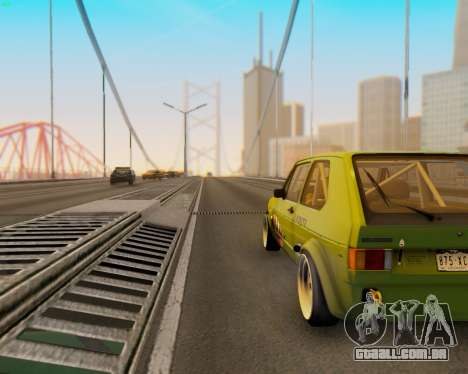 Volkswagen Golf Mk I para GTA San Andreas vista traseira