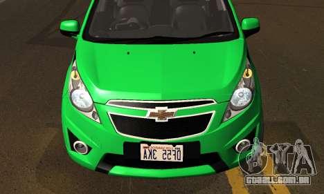 Chevrolet Spark 2011 para GTA San Andreas vista interior