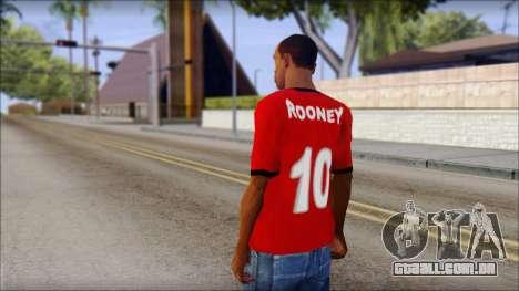 Manchester United 2013 T-Shirt para GTA San Andreas segunda tela