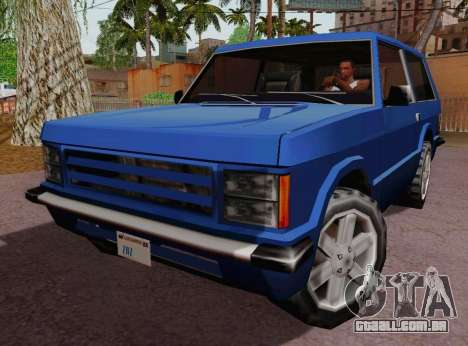 Huntley Coupe para GTA San Andreas esquerda vista