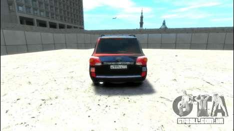 Toyota Land Cruiser 200 2013 para GTA 4 vista direita