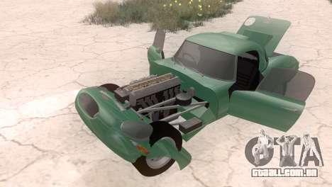 Jaguar E-Type para GTA San Andreas vista direita